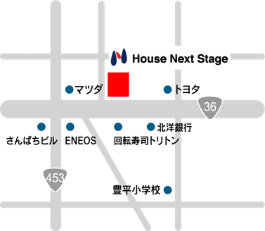 株式会社ハウスネクストステージ 北海道 札幌市豊平区 店舗地図